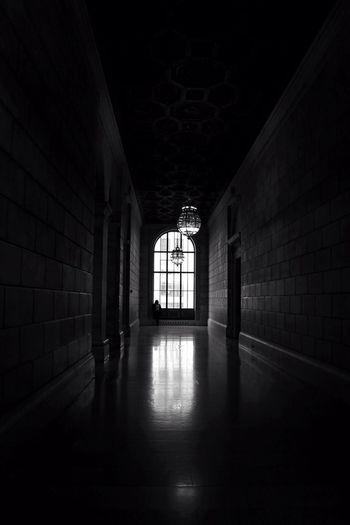 Corridor in the dark