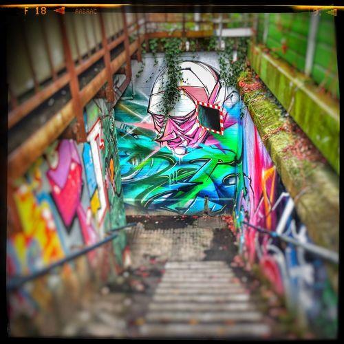 Unterführung Streetphotographie Grafitty Sprayer Streetart Underground Martina Dach Rheingau Martina Dach Multi Colored Selective Focus Choice Built Structure Day Architecture Outdoors