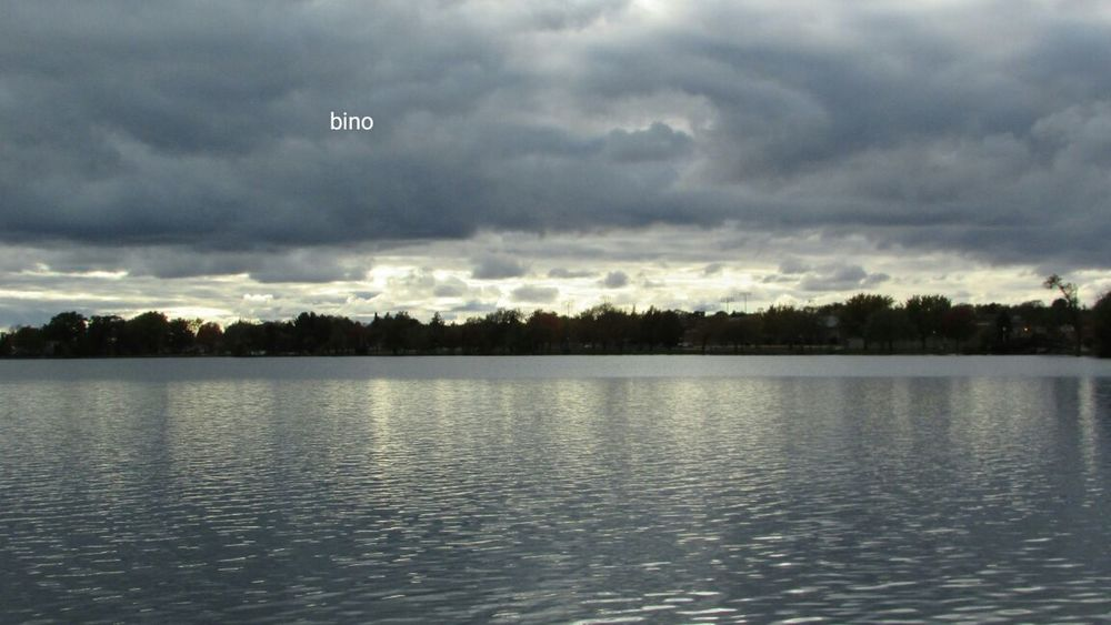 Grey Morning No People Around The Lake Cool Cloud Formations Dramatic Sky Water Reflections Lake Cadillac Pure Michigan