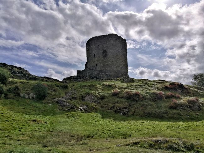 Dolbadarncastle Grass Cloud - Sky Built Structure Architecture Building Exterior History Field Day Old Ruin Outdoors No People Sky Nature