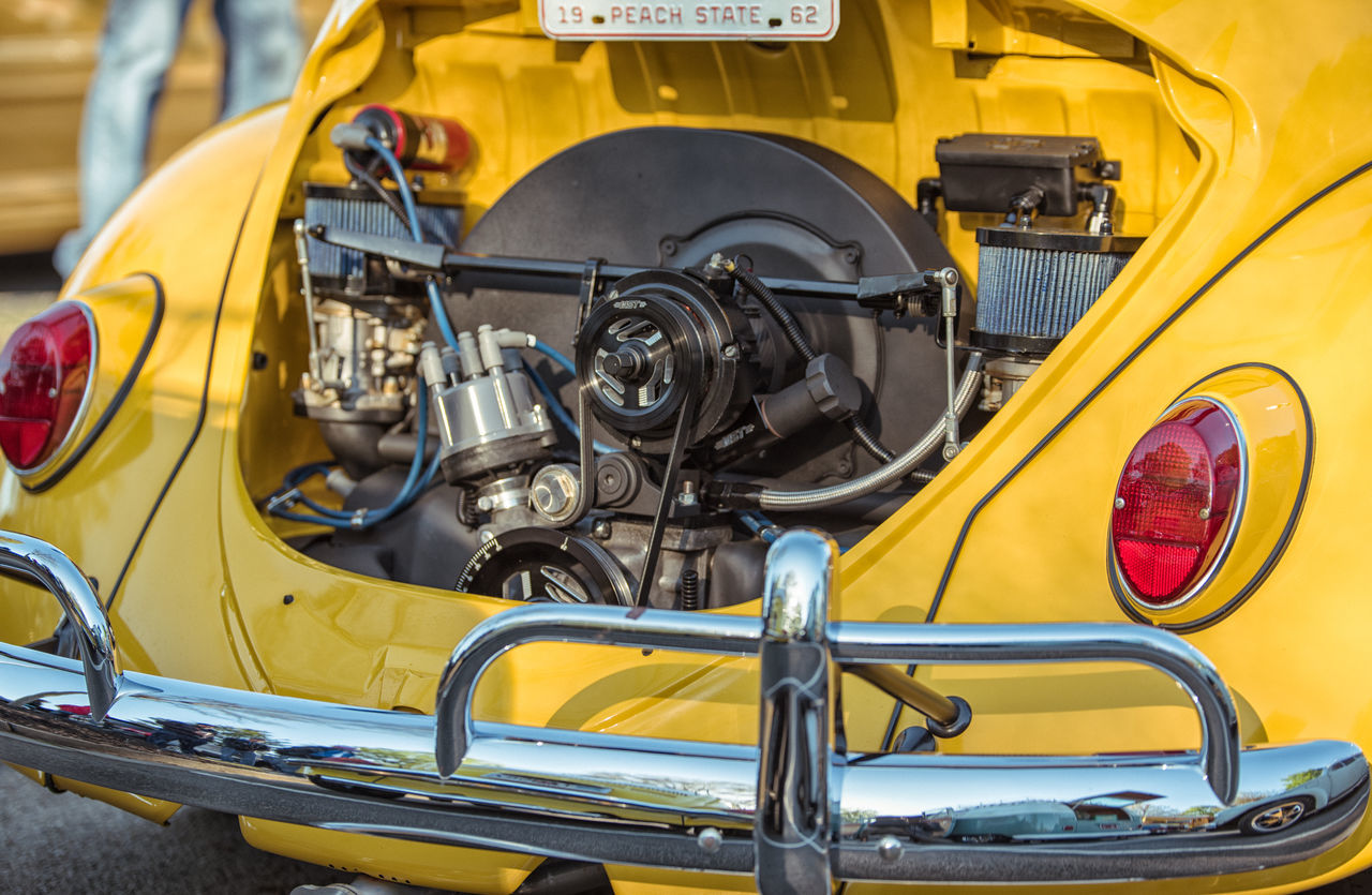 yellow, transportation, mode of transport, land vehicle, car, close-up, no people, day, outdoors