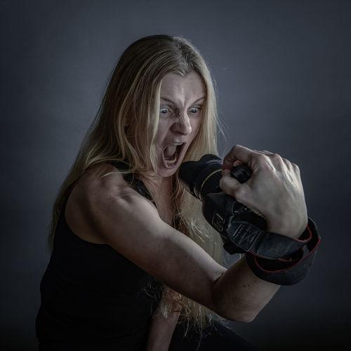 Blond Hair Canon Crazy People Photographer Portrait Selfie Woman