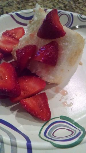 strawberry and angel food cake. Yummy Angel Food