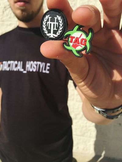Our team patch and our business patch Two People Adults Only Only Men Men Adult People Competition Sportsman Outdoors Day Tacticalhostyle High Angle View Airsoft JacksonvilleFL