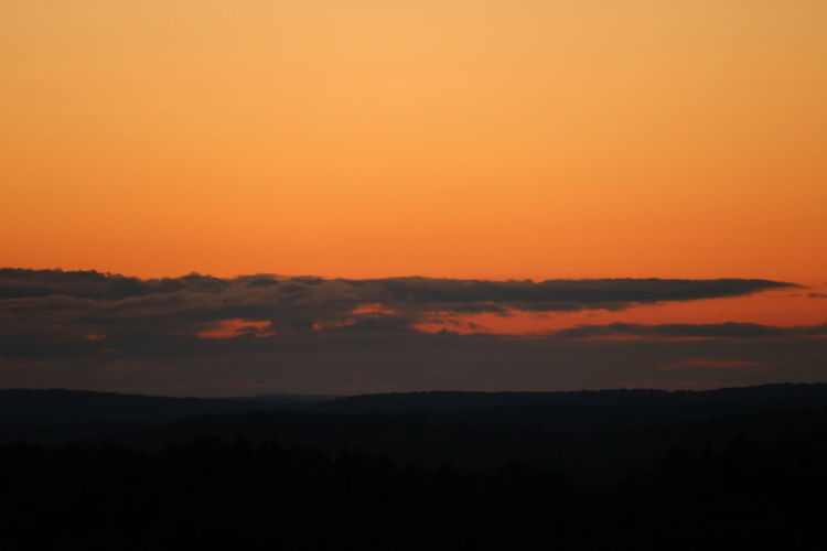 the impending sunrise Orange Sky Tranquility Beauty In Nature Clouds Day Landscape No People Sunrise