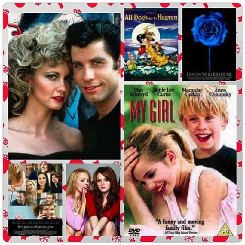 Day 12 I looove to many movies top 6 Grease AllDogsGoToHeaven IKnowWhoKilledMe HesJustNotThatIntoYou MeanGirls MyGirl DecemberChallenge <3
