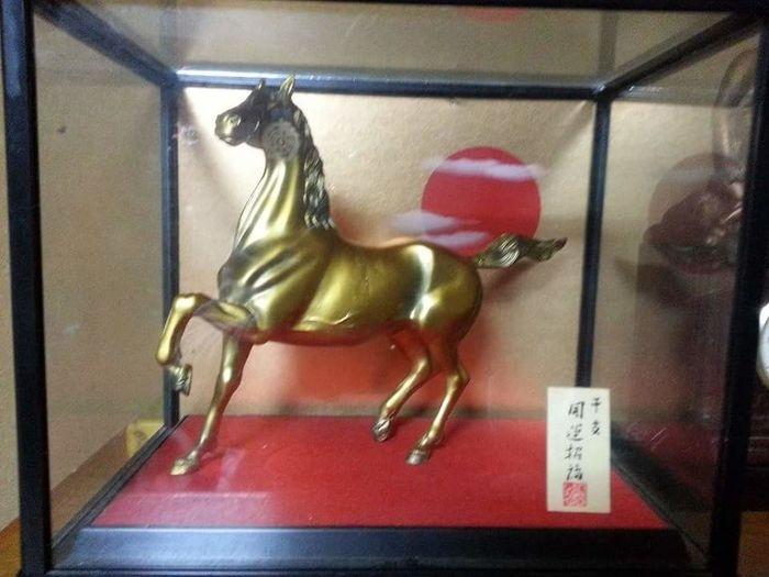 馬の置物 Indoors  Horse Japanese Traditional Japanese Traditional Industry Gold
