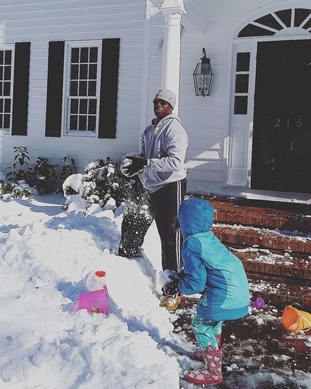 Snowball fight with her Dad! Blizzard2016 Childhoodunplugged Shootyourlife Unforgettableinstagram Lovethatman Daddydaughterfun
