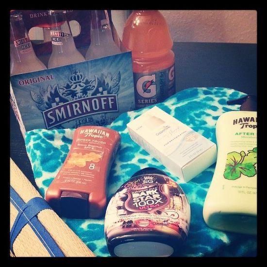 Got the summer essentials! :) Summerlife Smirnoff Hawaiiantropic Beachready