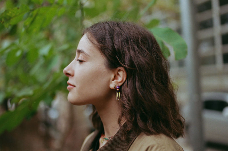 35mm film Profile View Earring  Women Beauty Portrait Headshot Females Earring  Fashion Close-up Jewelry The Modern Professional A New Perspective On Life International Women's Day 2019