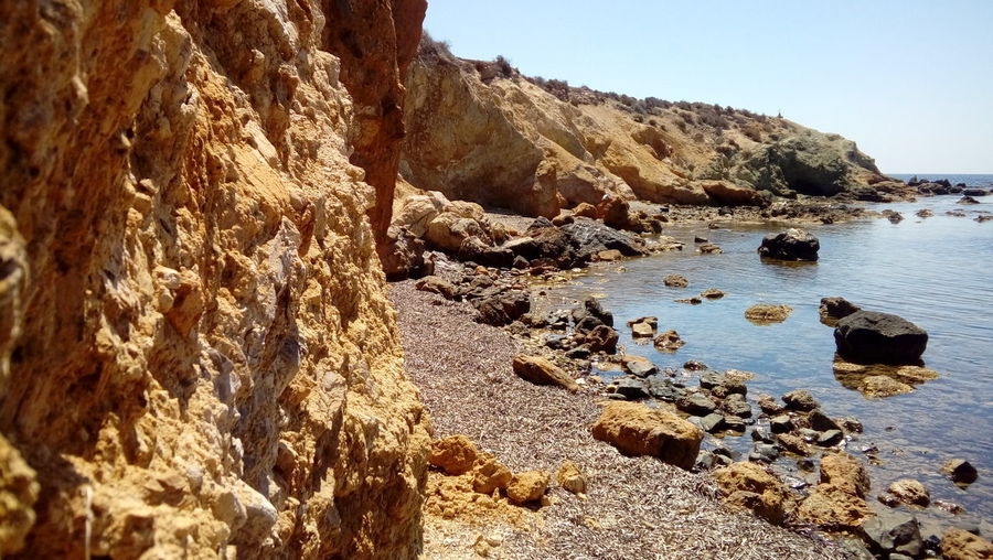 Water Nature Beach Land Beauty In Nature Sunlight Tranquility Rock Day No People Tranquil Scene Outdoors Sunny Mediterranean Sea Tabarca's Island Spain♥