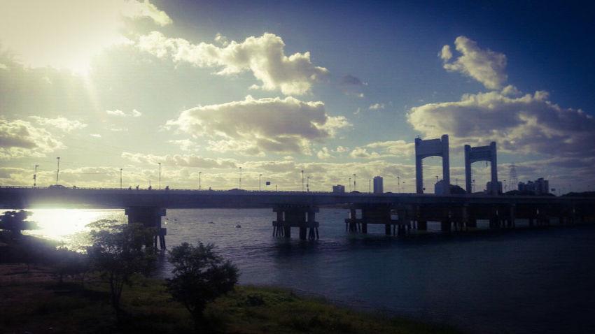 Presidente Drutra Bridge Brasil ♥ Petrolina Juazeiro . Bahia Beautiful Day Nature Sunset River Sky