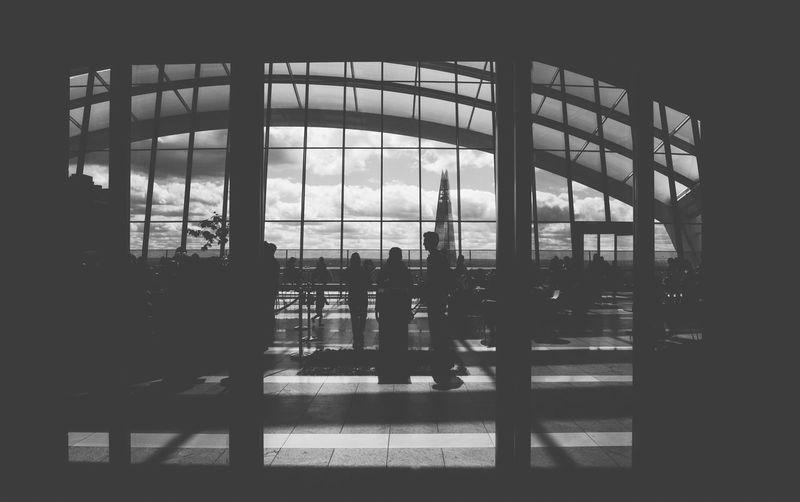 Silhouette man against sky
