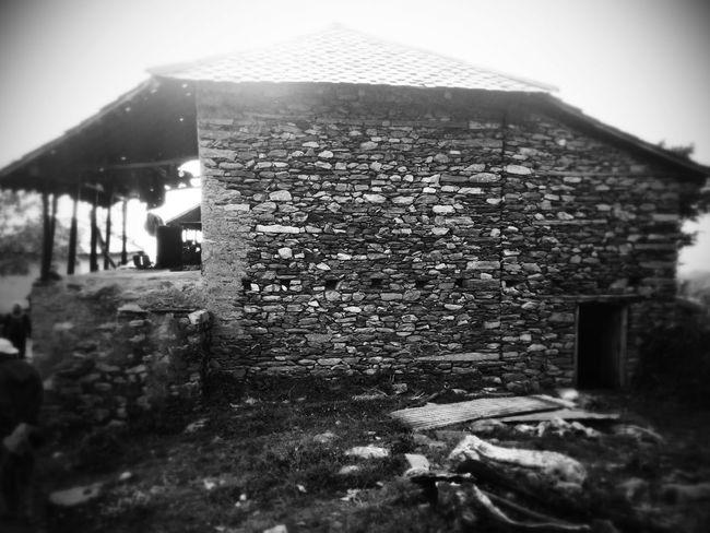 Old kangra style house Black & White Meditation