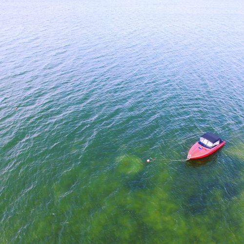 Transportation High Angle View Water Nautical Vessel Sea Aerial View Birdview DJI Phantom 3 The Sky Is The Limit Boat Island Green Color Stunning_shots