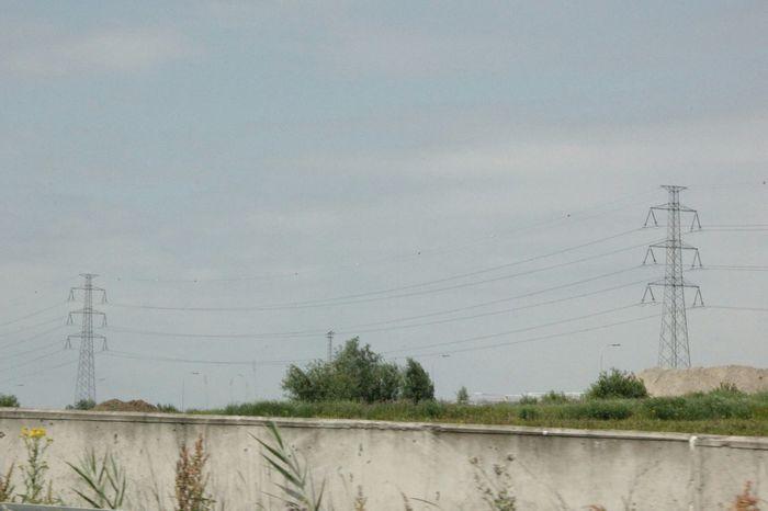 Transmission Line Tower Far Far Away Europe