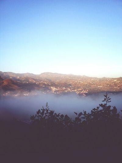 Mar de nubes a las 7:35 de la mañana.