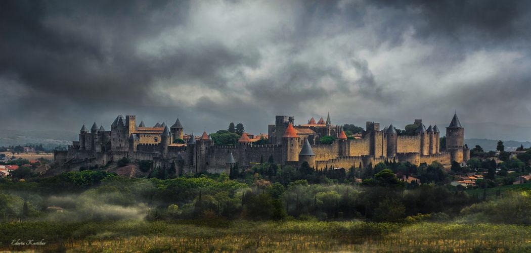 Carcassone, France Castle Architecture Cloud - Sky Sky