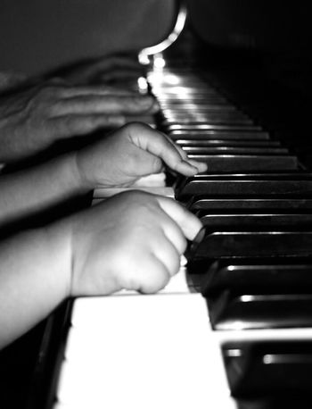 Piano Moments Father & Son Piano Piano Key Musical Instrument Human Hand Babyboy Babyhands Playingpiano