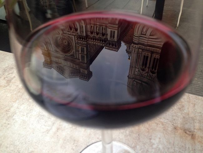 Liquid Lunch when good wine is art Redwine Florence Things I See Tinkalla Riflessi Reflection Obsession