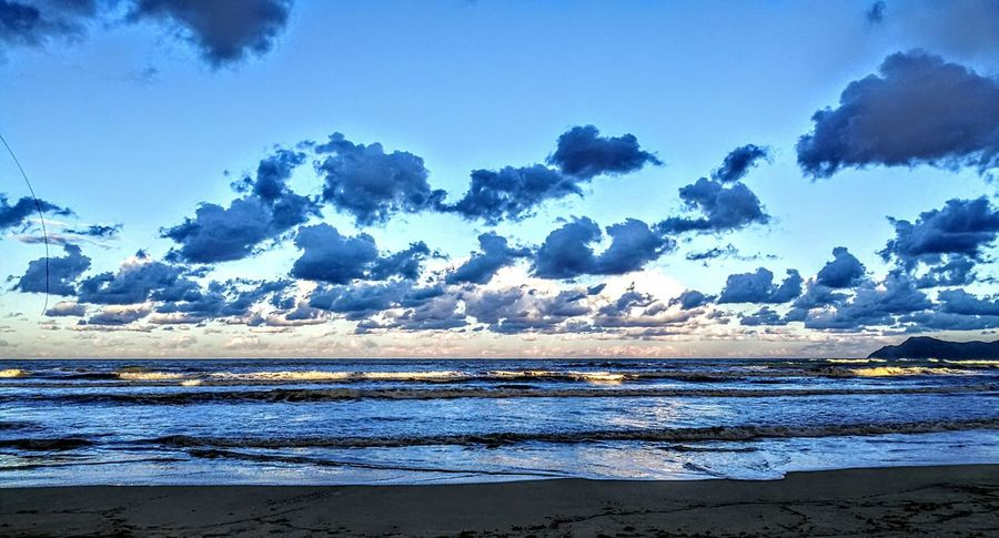 Clouds over the ocean... Sky Sea Water Blue Nature Beach Tranquil Scene Outdoors Beauty In Nature Picturing Individuality GetbetterwithAlex PalmaDiMaiorca Originalpicture
