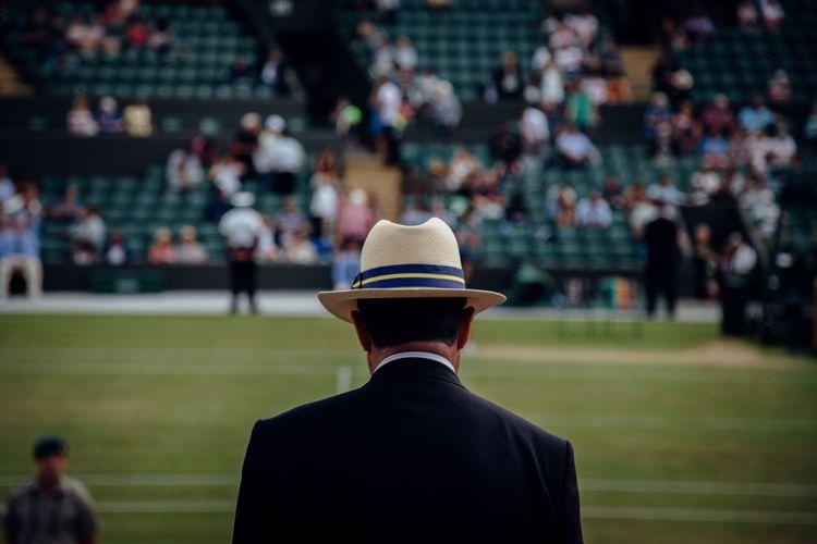 The Color Of Sport Wimbledon Rear View Men Waist Up Well-dressed Tennis 🎾 Tenniscourt Tennis Court