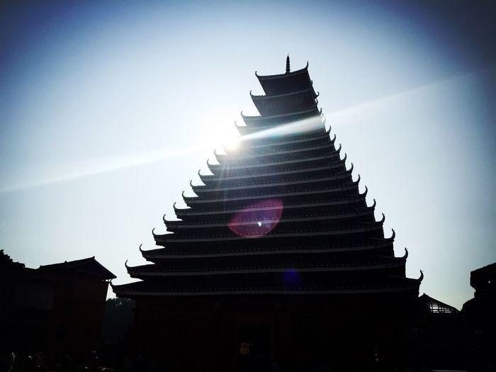 三江,程阳桥景区,鼓楼 China Sun_collection Holiday What A Beautiful Day Traveling Chinatown