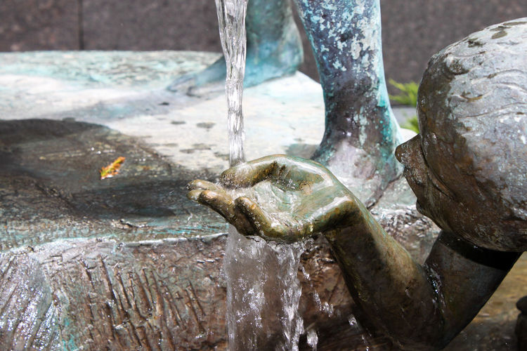 Close-up of water fountain