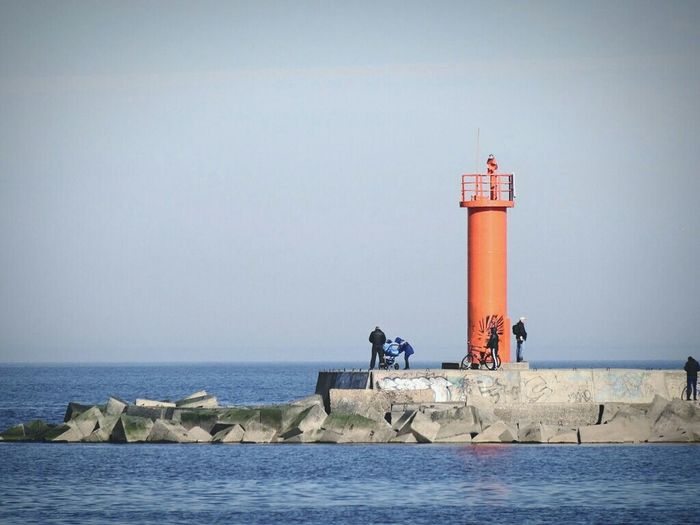 Lighthouse Seashore Enjoying Life Check This Out Streetphotography Walking Around Red Riga
