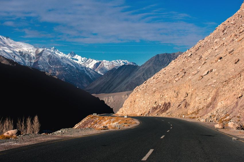 Road Highwayphotography Leh Ladakh Winterinladakh Adventure Himalayas Northern India Travel Destinations JammuandKashmir Clouds Leading Lines Leading The Way Way To Go Home Driving Around NH1 Landscape Mountain Landscape Snow Travel Destinations No People Mountain Range Outdoors Nature Scenics Vacations Day Sky Beauty In Nature Shades Of Winter EyeEmNewHere