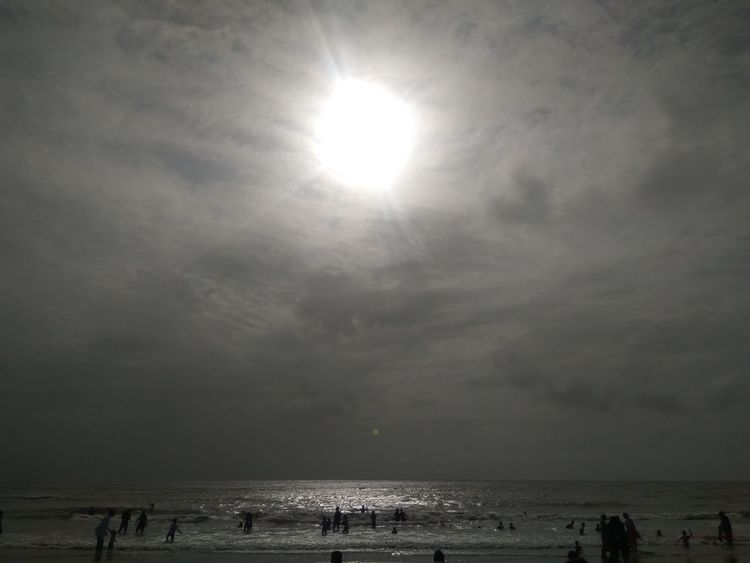 Fishing Reflection Breathing Space Outdoors Vacations Adults OnlyLow Angle View Landscape Astronomy People Beach Day Sand Sky Nature Adult Sun EyeEmNewHere Water Full Length Beauty In Nature No People