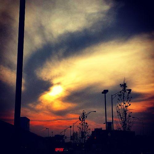 Sunset in ElmwoodPark