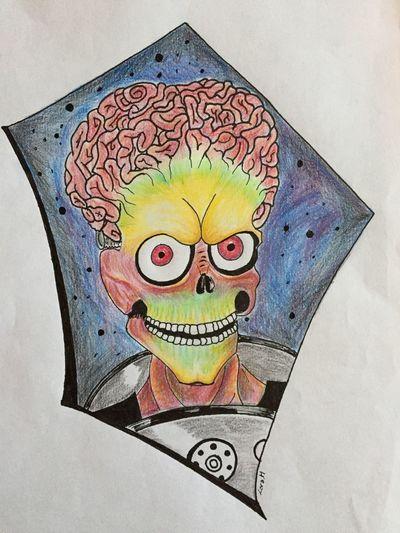 Drawing Art Timburton Marsattack