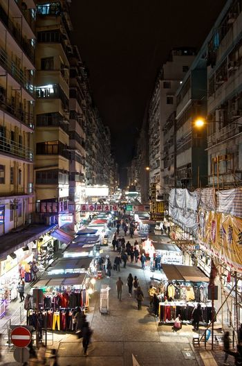 My Home Town. By SONY A7R. Hong Kong ASIA China Top View Building Market Outdoor Market Night Market Fa Yuen Street Hong Kong Central Staricase Hk Night City City Street Cityscape Large Group Of People Illuminated Architecture Night Built Structure People Indoors  Crowd