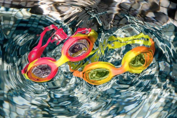 Swimming Goggles Goggle Eyes Swimming Pool Swimming Underwater Abstract