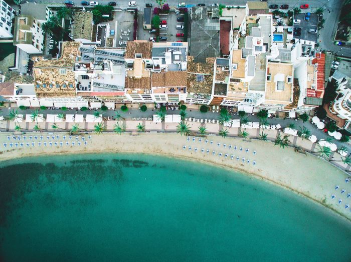 Water Architecture Building Exterior Day Outdoors No People Built Structure City Nature Areal Drone  Mallorca Beach Ocean