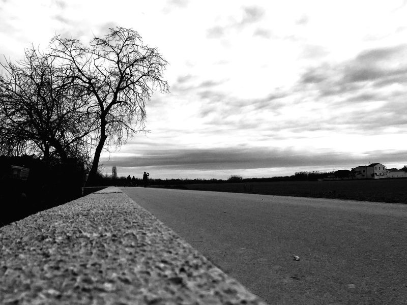 From My Point Of View On The Road EyeEm Bnw Blackandwhite Eye4photography  Beach Sky Nature Sand Outdoors Sea Day Cloud - Sky Tranquility Tranquil Scene Scenics Beauty In Nature No People