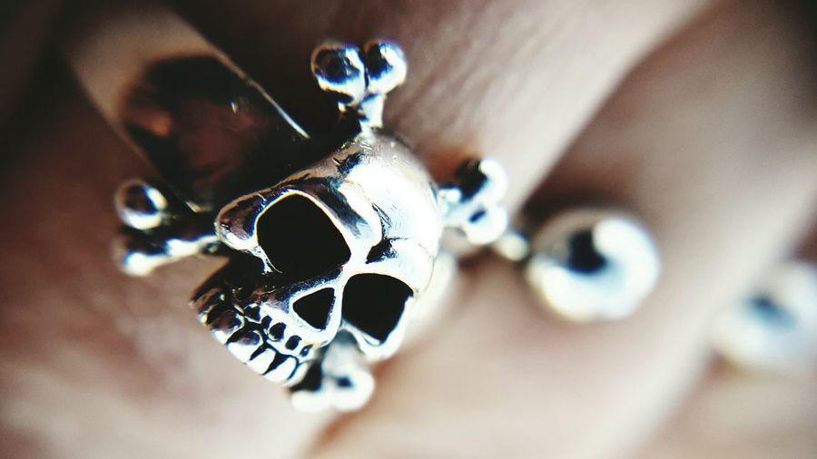 Close-up Silver - Metal Silver Ring Skulls Skullrings Fingerring Finger Ring Jewelry Macro Photography My Year My View Lifestyles Rock'n'Roll Rock Music Rockstar Heavy Metal Human Hand Lieblingsteil The Week On EyeEm