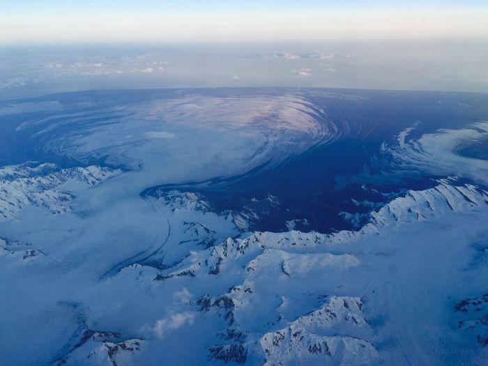 Aerial Shot Glaciers Glacier - Hurricane hurricane-shaped glacier Kluane National Park & Reserve A Bird's Eye View Ice Age