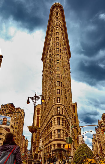 Tall Elegant Flatiron Building NYC 23rd Street  Architecture Building Building Exterior City Cloud - Sky Famous Place Flatiron Building NYC NYC Photography Sky Street Street Photography Tall - High Tower Showcase April
