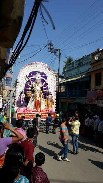 Durga Puja at Nabadwip Abundance Art And Craft Choice Cultures Durga Puja 2014 Durga Pujo Durgapuja Enjoyment Fun Hanging Incidental People Large Group Of Objects Market Market Stall Occupation Religion Retail  Store Temple - Building Tradition Variation