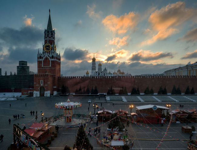 Russia, Moscow, Christmas, Red square, the Kremlin Christmas Moscow Red Square Russia Architecture Bridge - Man Made Structure Building Exterior Built Structure City Cityscape Cloud - Sky Dusk Illuminated Nature Nautical Vessel Night Outdoors Place Of Worship Real People Sky Spirituality Sunset The Kremlin Travel Destinations Water