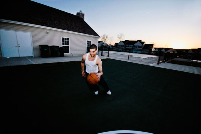 My bro heads for the shot. Basketball - Sport Bro Day Family New York Outdoors People Photography Real People Sky Wappingers Falls