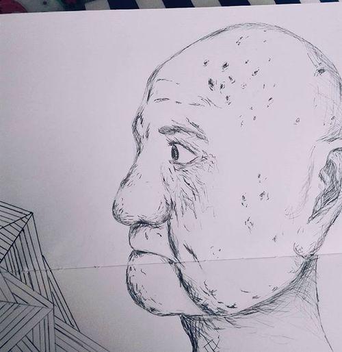 Wrinkles Drawing Art Colombianart Colombia Sketchbook Sketchaday Oldman