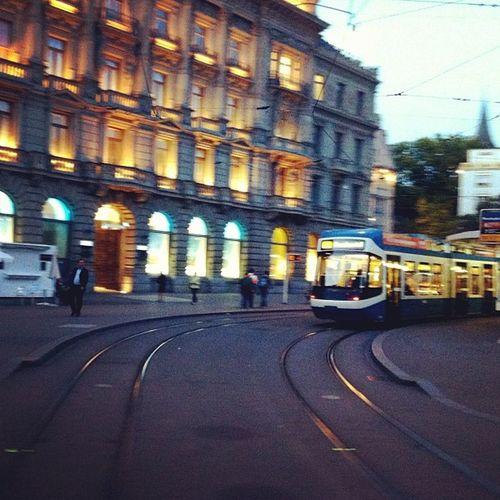 Paradeplatz on sunset