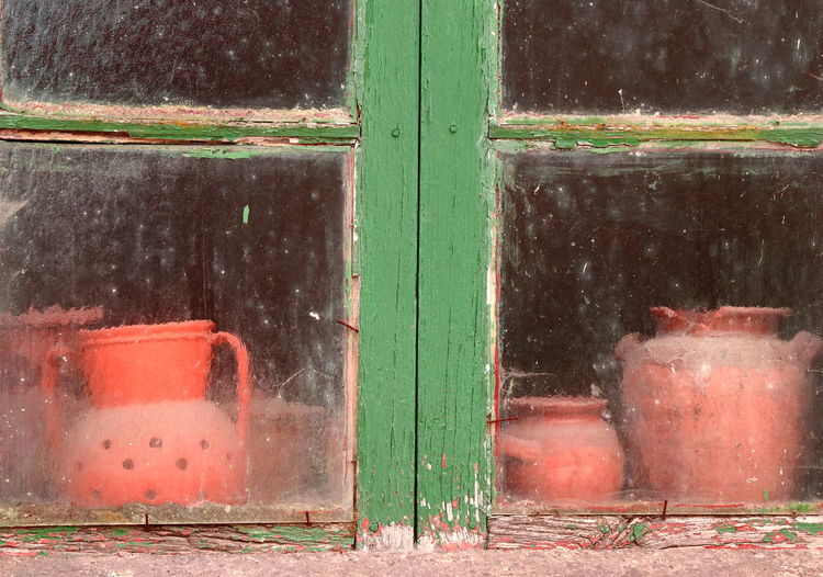 Window of old abandoned house