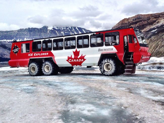 Truck Glacier Nature Formation Ice Cold Cold Temperature Trip Canada Beautiful Beautiful Nature Awesome Beauty Fresh Adventure