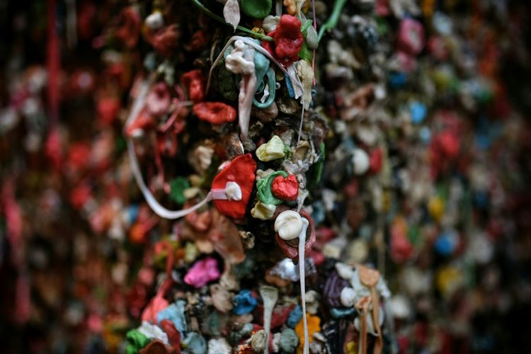 Annnnnnnd the obligatory Gum Wall pic from Post Alley in Seattle today. Just don't Lick Lick Lick it! ? Gum Gross Nasty Bokehlicious Check This Out Enjoying Life @camilliamakeup
