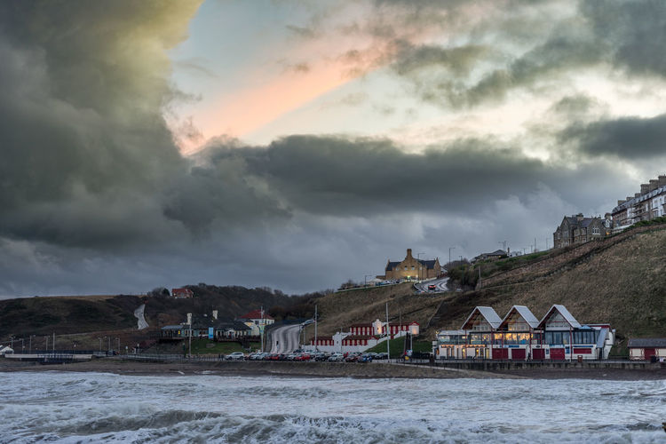 Saltburn on a very cold stormy day. Saltburn Saltburn By The Sea Teesside Yorkshire North Yorkshire North East Seaside Sunset Sunset Collection Cloud - Sky Built Structure Building Exterior Architecture Sky Building House Beauty In Nature Scenics - Nature Nature Land