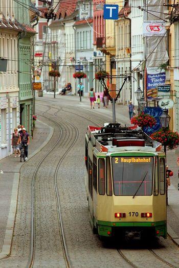 Sommer2014 in Brandenburg An Der Havel Stadtansichten Last Summer Small TownCity View  Tram Tramway Old Tram